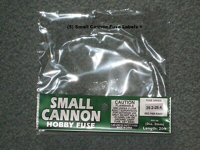 (5) Cannon Fuse Labels Small Hobby Firework Fuse 2mm Label +
