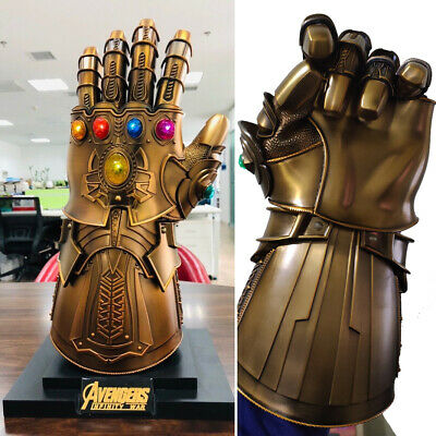 Hot HCMY Thanos Infinity Gauntlet Full Metal 1:1 Wearable Cosplay Statue LED New