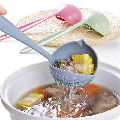 2 in 1 Long Handled Soup Spoon Tableware Cooking Kitchen Gadgets Tool CF