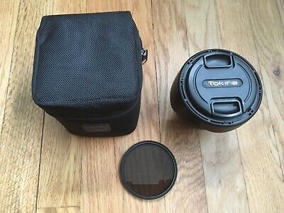 Tokina AT-X Pro SD 11-16mm F2.8 IF DX Wide Angle Lens - Case Filter Caps + Hood
