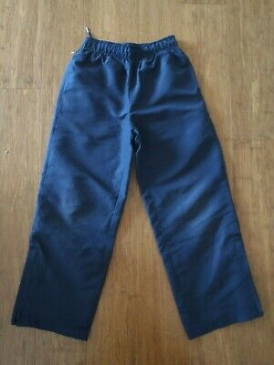 Childrens Size 7 Navy Blue Sports Junior School Pants