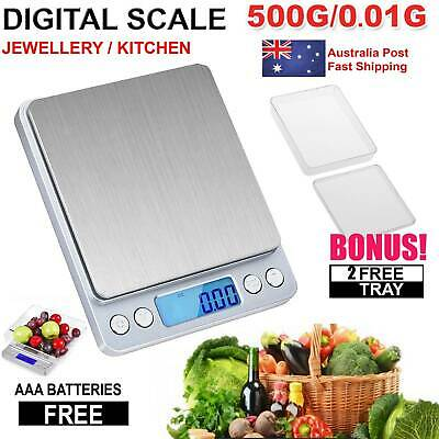 0.01~500g Kitchen Food Scale Digital LCD Electronic Balance Weight Postal Scales
