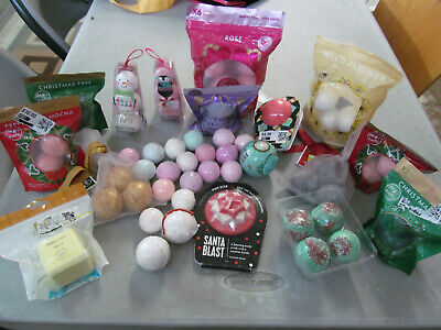 Bath bomb bath fizzer lot assorted 58 in total new all pictured