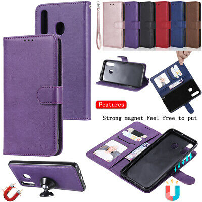 For Samsung Galaxy A50/A30/A20&M20 Wallet Card Slot Magnet Detachable Case Cover