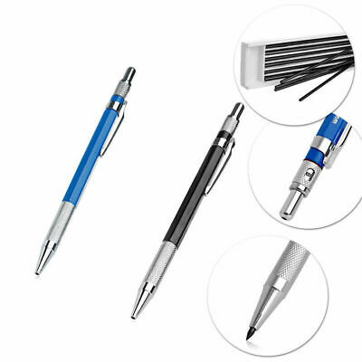 2B 2mm Lead Holder Automatic Mechanical Drawing Drafting Pencil 12 Leads Refills