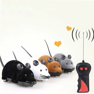 4 Color Pet Cat Dog InteractiveToy Electric RC Rat Mouse Wireless Remote Control