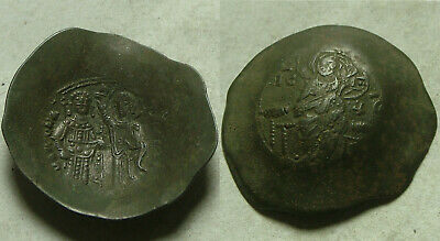 Rare genuine ancient BYZANTINE coin Manuel I Comnenus 1143 Victory Christ