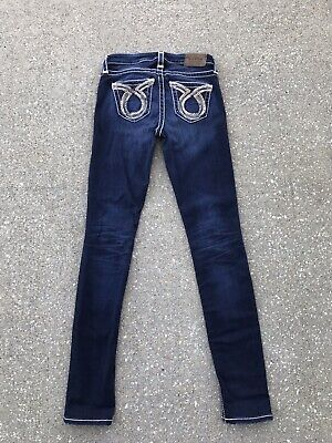 27be27ac4b3 Big Star Maddie Skinny Dark Wash Jeans 25 x 31 The Buckle Thick Stitching