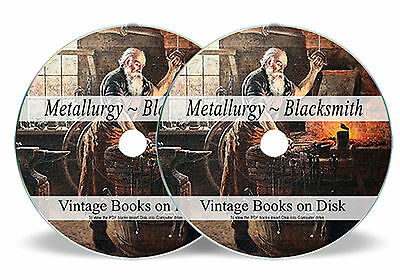 Rare Books Learn Metallurgy Blacksmithing DVD Metal Work Forge Tools Anvil 259