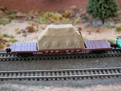 Hay Brothers TARP COVERED LOAD Roundhouse 100T 52 FT Gondolas Fits Athearn
