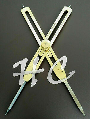 """9"""" Proportional Divider Drafting Engineer Navigational Compass Solid Brass Tool"""