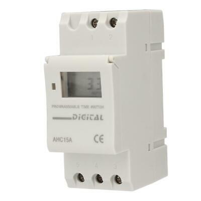 AC 220V 16A Digital LCD DIN Programmable Weekly Rail Timer Time Relay Switch BR