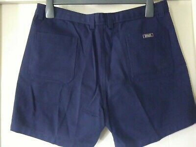 mens Bisley Workwear Shorts, Navy Blue, Size 92, All Cotton