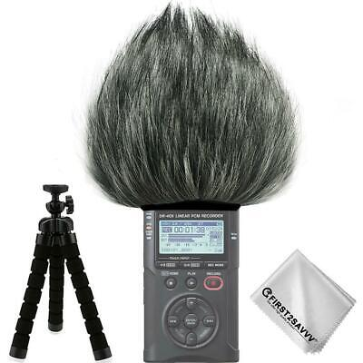 Recorders Furry Microphone Mic Windscreen Wind Muff for Tascam DR-40X DR-40