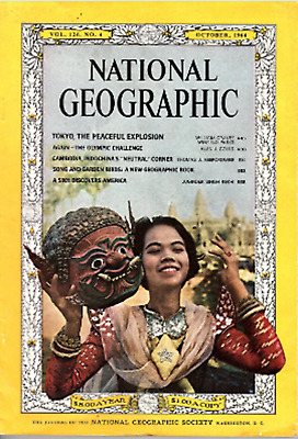 National Geographic Oct 1964 - Tokyo, Olympic Challenge, Cambodia