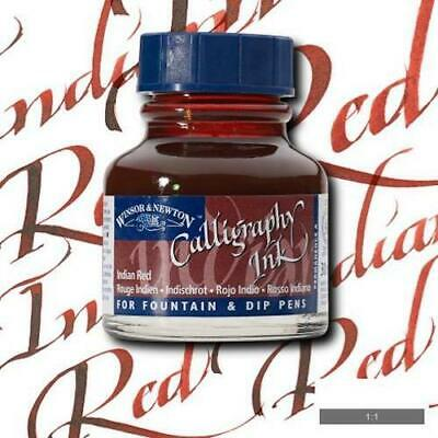 WINSOR & NEWTON CALLIGRAPHY INK 30ml - Indian red