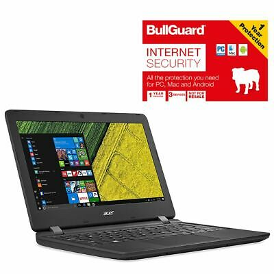 "Acer ES1-132-C8WF Laptop 11.6"" Celeron 4GB 32GB With BullGuard Internet Security"