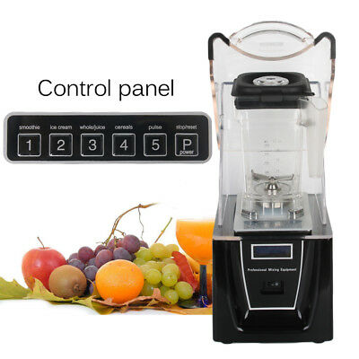 ITOP Commercial Soundproof Cover Blender Fruits Ice Food Smoothie Juicer Mixer