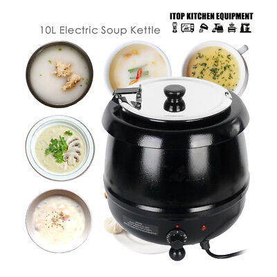 Bain-marie Soup Kettle 10L food Warmer Wet Heat Electric Buffet restaurant shop