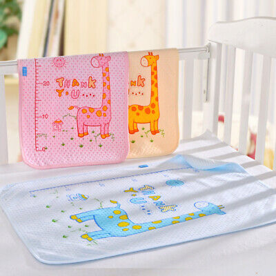 Reusable Kids Infant Waterproof Urine Mat Cover Washable Changing Diaper Pad AG