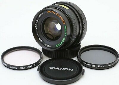 Auto Chinon 28mm f1:2.8 Wide Angle Prime Lens Pentax PK Mount