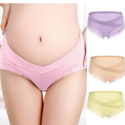 Pregnancy Maternity Cotton Pregnant Women Underwear Briefs Under Bump Soft New