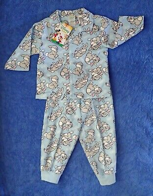 Baby Boys Blue Disney THUMPER Flannelette Pajamas P.J.s  Size 00 or 0 BNWTs