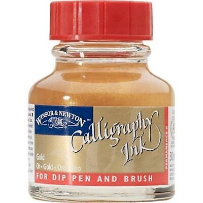 WINSOR & NEWTON CALLIGRAPHY INK 30ml - For Dip Pens - Gold