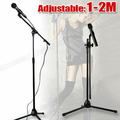 High Quality Professional Boom Microphone Mic Stand Holder Adjustable & 2 Clips