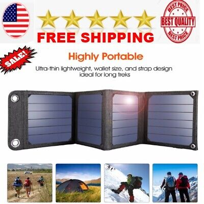 portable Sun Light Solar Cells Charger panel kit for hiking USB output device