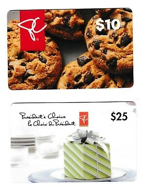 2 Collectible store PRESIDENT'S CHOICE LOBLAW FORTINOS gift cards BOX MUFFIN