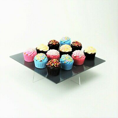 "Square 10"" Cake Stand,  Decorating Plate, 3 Heights, 57 Colours, Birthday, Party"