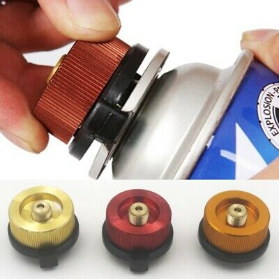 Camping Burner Cartridge Gas Fuel Canister Stove Cans Tank Adapter Converter K6