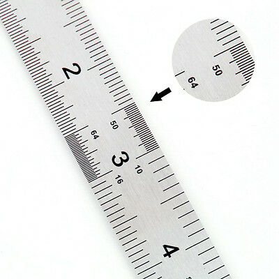 2x Newest Stainless steel ruler 150mm/60mm/straight edge/rule/measuring RD