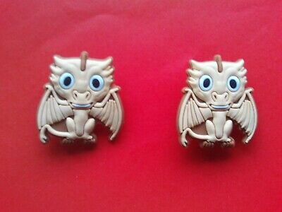 2 New Game Of Thrones Dragons jibbitz crocs loom band shoe charms cake toppers