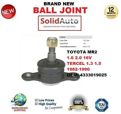 FRONT LOWER BALL Joints Toyota MR2 AW11R SW20R & Tercel