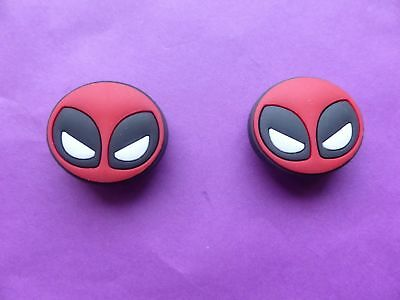2 Marvel Deadpool jibbitz crocs shoe charms loom wrist band cake toppers