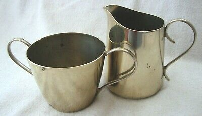 Antique Silver Plated Epns Milk Jug Creamer & Sugar Bowl Tableware