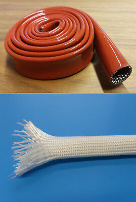 Fiber Glass Hose Natural Uncoated or Silicone Coated