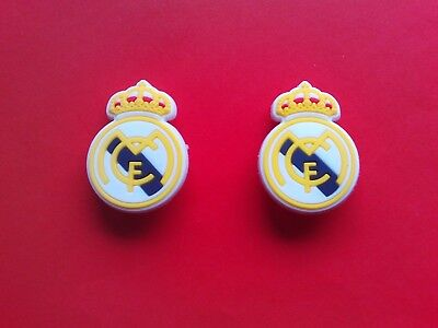 2 Real Madrid Football Badges Logos jibbitz croc shoe loom charms cake toppers