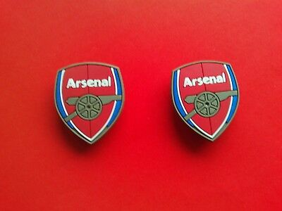 2 New Arsenal Badges Football Logos jibbitz croc shoe charms band cake toppers