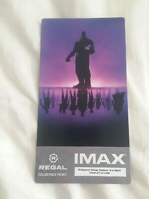 AVENGERS ENDGAME Collectible Regal IMAX Ticket Free Poster Code Thor Hulk Thanos