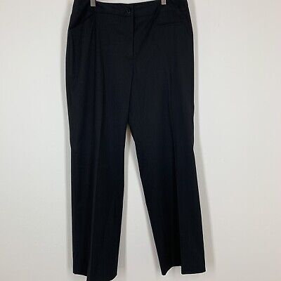J' Envie Woman's pants size 12 black textured stretch cropped ankle career