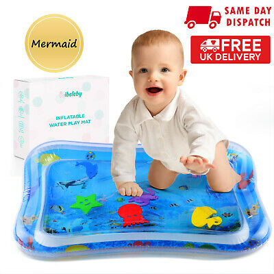 UK Inflatable Baby Water Play Mat Infants Toddlers Perfect Fun Tummy Time Play