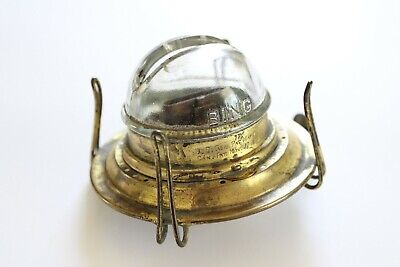 antique bing glass kerosene burner | oil lamp light victorian lighting vtg