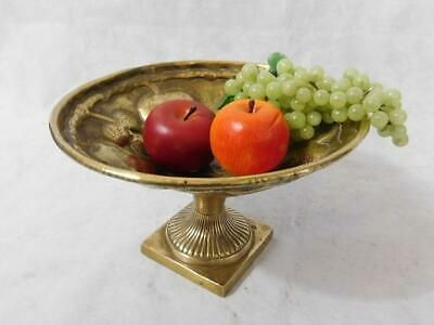 A Good Antique Arts & Crafts Repousse Brass Fruit Comport Stand