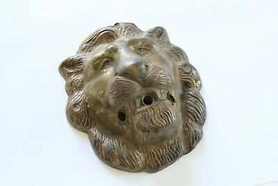 antique brass lion light housing assembly | victorian light sconce deco vtg