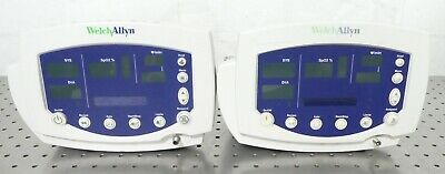 R159501 Lot (2) Welch Allyn 53NTP Patient Vital Signs Monitor