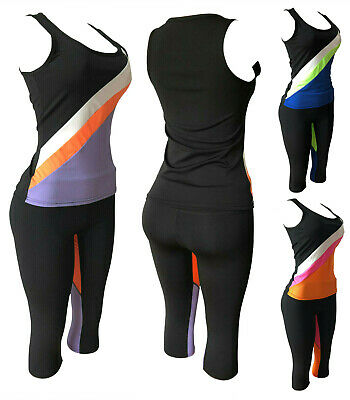 Women's Apparel Sports Gym Yoga Workout Activewear 2 Pieces Top+Leggings Set