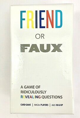 Friend or Faux Adult Card Game Party New Sealed age18+ 2 plus players Pressman